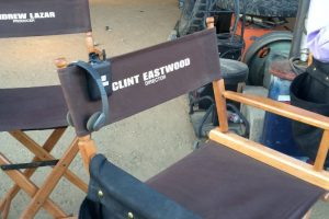Directors chair on set of American Sniper movie